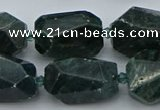 CNG5424 12*16mm - 15*25mm faceted nuggets green apatite beads