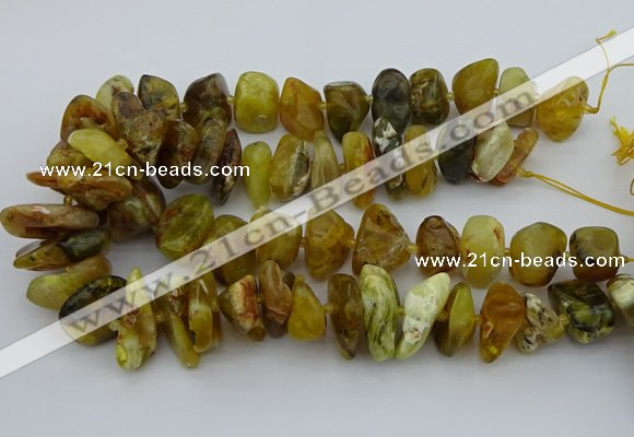 CNG5430 12*16mm - 20*28mm nuggets yellow opal beads wholesale