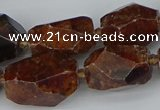 CNG5518 12*16mm - 15*25mm faceted nuggets orange garnet beads