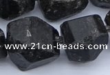 CNG5557 15.5 inches 18*22mm - 22*25mm nuggets black tourmaline beads