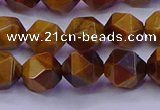 CNG5577 15.5 inches 8mm faceted nuggets yellow tiger eye beads