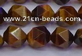 CNG5578 15.5 inches 10mm faceted nuggets yellow tiger eye beads