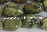 CNG558 15.5 inches 13*18mm nuggets rhyolite gemstone beads