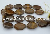 CNG5597 20*30mm - 35*45mm faceted freeform tiger iron beads
