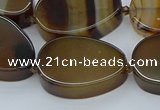 CNG5667 15.5 inches 22*30mm freeform agate gemstone beads