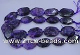 CNG5715 15.5 inches 25*35mm - 30*40mm faceted freeform charoite beads