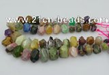 CNG5738 12*16mm - 15*20mm faceted nuggets mixed gemstone beads