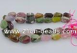 CNG5739 12*16mm - 15*25mm faceted nuggets mixed gemstone beads