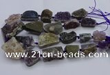 CNG5805 18*25mm - 28*40mm freeform druzy amethyst beads