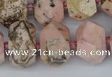 CNG5835 15.5 inches 12*16mm - 15*20mm faceted nuggets rhodochrosite beads