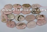 CNG5837 15.5 inches 20*30mm - 35*45mm faceted freeform rhodochrosite beads