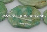 CNG5839 15.5 inches 20*30mm - 35*45mm faceted freeform amazonite beads