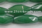 CNG584 15.5 inches 14*33mm faceted nuggets green aventurine beads