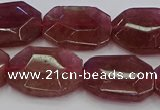 CNG5856 15*20mm - 20*25mm faceted freeform strawberry quartz beads