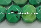 CNG5877 15.5 inches 8*12mm - 12*16mm faceted freeform grass agate beads