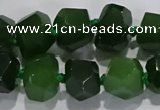 CNG6018 15.5 inches 10*14mm - 12*16mm faceted nuggets white jade beads