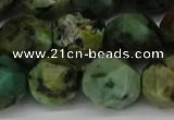 CNG6047 15.5 inches 12mm faceted nuggets African turquoise beads