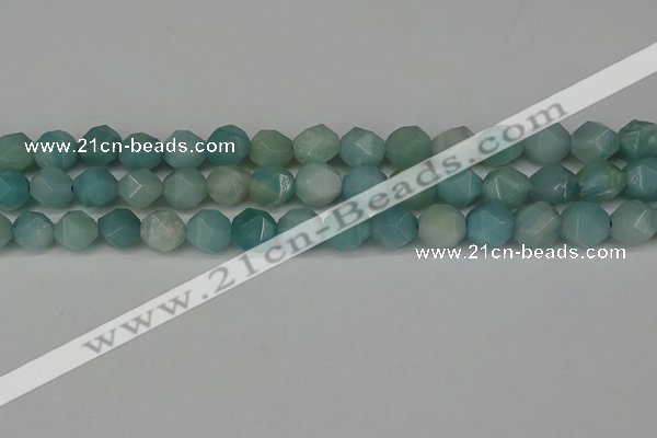 CNG6175 15.5 inches 10mm faceted nuggets amazonite gemstone beads