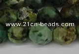 CNG6185 15.5 inches 10mm faceted nuggets African turquoise beads