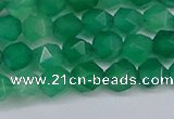 CNG6226 15.5 inches 6mm faceted nuggets green agate beads