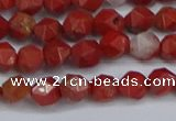 CNG6241 15.5 inches 6mm faceted nuggets red jasper beads