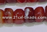 CNG6383 15.5 inches 6*14mm - 8*14mm nuggets red agate beads