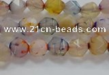 CNG6500 15.5 inches 6mm faceted nuggets agate beads wholesale