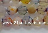 CNG6501 15.5 inches 8mm faceted nuggets agate beads wholesale