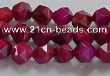 CNG6534 15.5 inches 6mm faceted nuggets red tiger eye beads