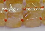 CNG6804 15.5 inches 8*12mm - 10*16mm nuggets citrine beads