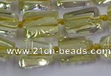 CNG6806 15.5 inches 5*8mm - 8*12mm nuggets lemon quartz beads
