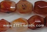 CNG685 15.5 inches 15*18mm - 18*20mm faceted nuggets agate beads