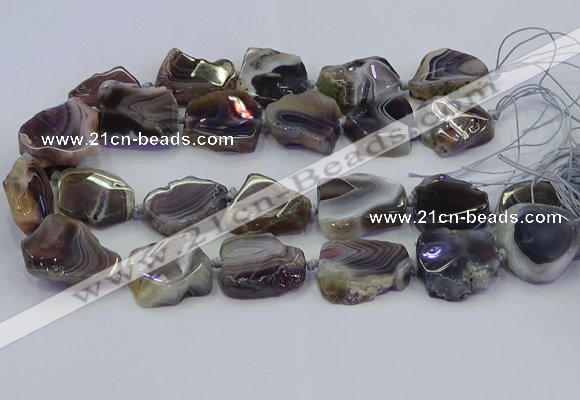 CNG6942 15.5 inches 18*25mm - 25*35mm freeform Botswana agate beads