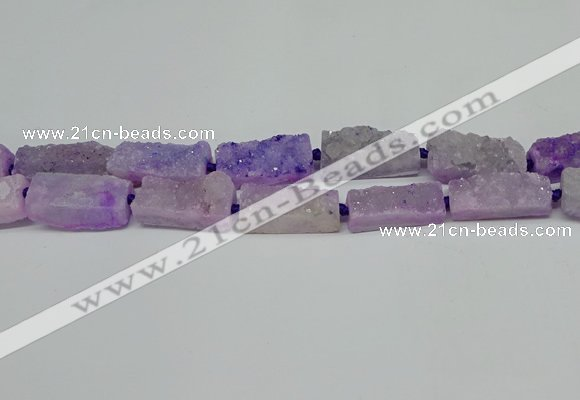 CNG7013 15.5 inches 10*28mm - 12*30mm freeform druzy agate beads
