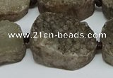 CNG7029 15.5 inches 20*28mm - 25*35mm freeform druzy agate beads