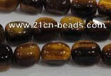 CNG710 15.5 inches 10*14mm nuggets yellow tiger eye beads wholesale