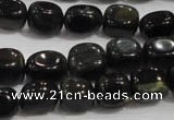 CNG712 15.5 inches 10*14mm nuggets blue tiger eye beads wholesale