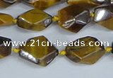 CNG7139 6*10mm - 10*14mm faceted nuggets yellow tiger eye beads