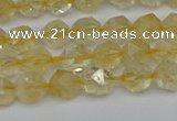 CNG7235 15.5 inches 6mm faceted nuggets citrine beads wholesale