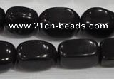 CNG725 15.5 inches 15*20mm nuggets black obsidian beads wholesale