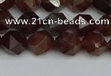 CNG7271 15.5 inches 8mm faceted nuggets orange garnet beads