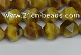 CNG7306 15.5 inches 8mm faceted nuggets golden tiger eye beads