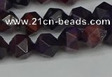 CNG7316 15.5 inches 8mm faceted nuggets purple tiger eye beads