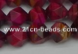 CNG7323 15.5 inches 12mm faceted nuggets red tiger eye beads