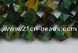 CNG7326 15.5 inches 8mm faceted nuggets green tiger eye beads