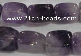 CNG733 15.5 inches 13*18mm nuggets amethyst beads wholesale