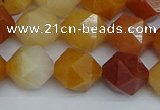 CNG7362 15.5 inches 10mm faceted nuggets yellow jade beads