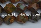 CNG7392 15.5 inches 10mm faceted nuggets green opal beads