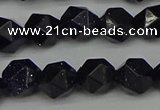 CNG7407 15.5 inches 10mm faceted nuggets blue goldstone beads