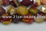 CNG7426 15.5 inches 8mm faceted nuggets mookaite beads